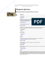 Magnesia Glossary