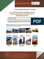 130711 Np Finalistas Premios Arquitectura PDF
