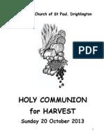 Holy Communion for Harvest