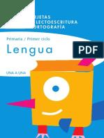 tarjetas lectoescritura  2 primaria