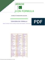 Conversion Formula