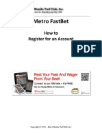Metro FastBet - How to Register for an Account