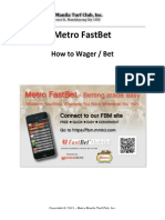 Metro FastBet - How to Wager or Bet
