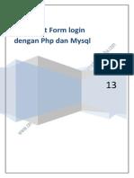 Membuat Form login dengan Php dan Mysql.pdf