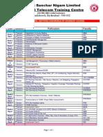 RF Schedule BSNL