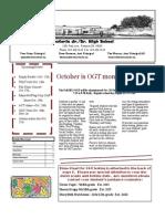FJSHS October 2013 Newsletter