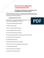 Recetas de Cocina Vegetariana - Cocinametabolica.net