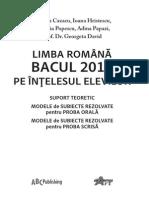 Bac Romana 2011