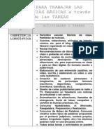 IDEAS PARA TRABAJAR LAS COMPETENCIAS BÁSICAS a través de las TAREAS(blanco-negro)