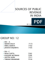Sources of Public Revenue
