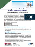 U31 en NetNumen Wireline Highlights Datasheet