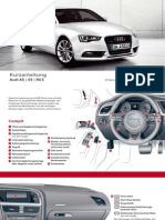 Audi A5 Kurzanleitung Owner's Manual (Germany, 2013)