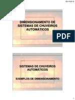 Dimensionamento de Sistemas de Chuveiros Automáticos - Parte Final