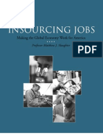 In Sourcing Study by Prof. Matthew J. Slaughter