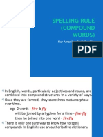 SPELLING RULE (Compound Words)