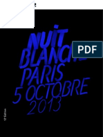 Programme Nuit Blanche 2013