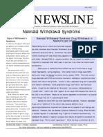 Neonatal Withdrawal