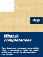 What is Consideration & Completeness
