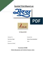 Saras Industrial Visit Report