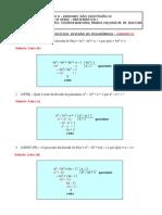 Questões resolvidas sobre divisão de polinômios