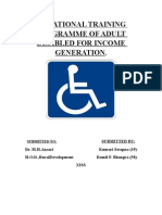 training for disabled people