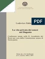 L. Zdekauer - La vita privata dei senesi nel Dugento
