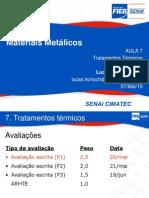 Aula Mat Metalicos - Trat Termico