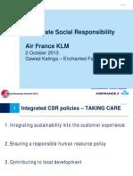 Air France / KLM - Corporate Social Responsibility
