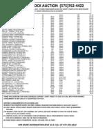 CLA Market Report October 16, 2013
