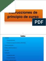 Instrucciones de Principio de Curso