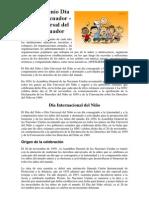 1ero de Junio Día del Niño Ecuador