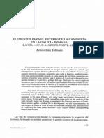 Elementos Para El Estudio de La Camineria en La Galicia Romana