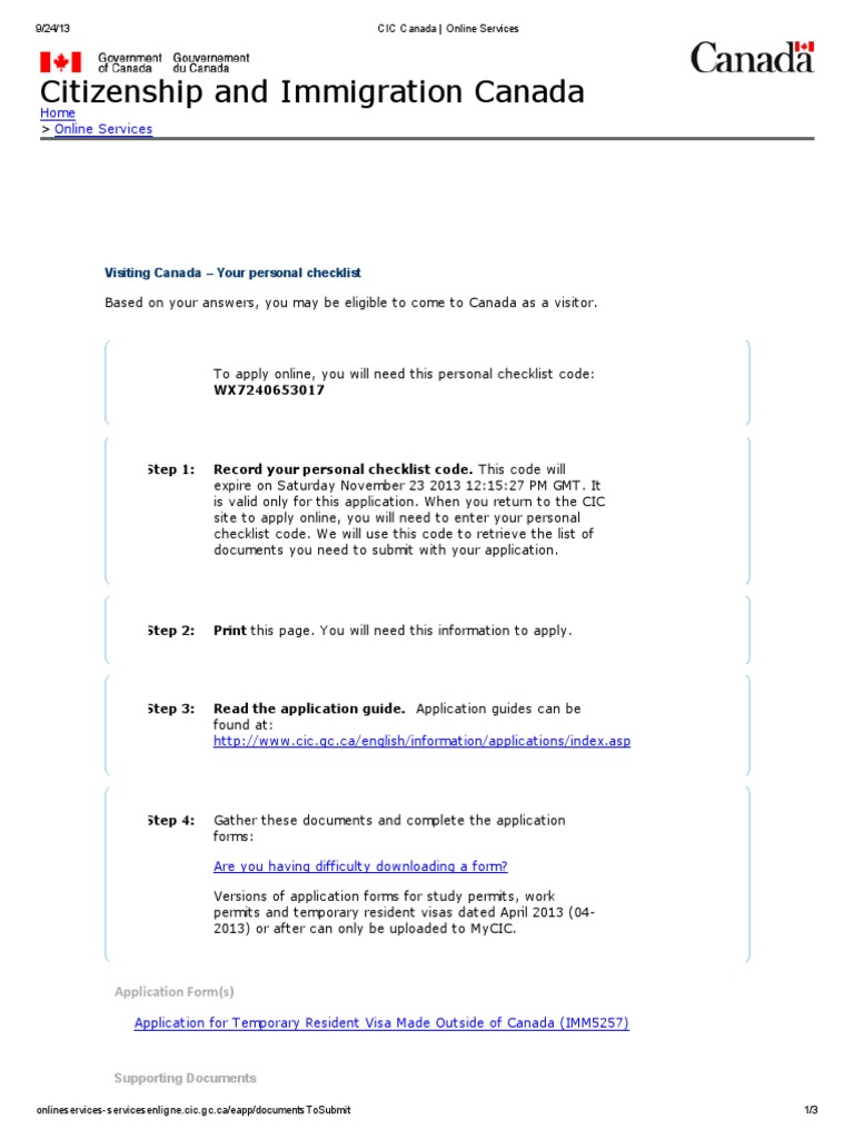 Cic Canada Online Services Pdf Travel Visa Cultural Globalization