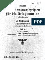 """M.Dv.190/4A3"" Munitionsvorschriften fur die Kriegsmarine (Artillerie) - 1941"