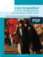 La Lucha Igualdad Los Pardos en La Independencia de Venezuela