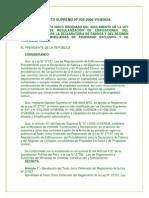 DECRETOSUPREMON035-2006ViviendadeltextounicoordenadodelreglamentodelaLey271157