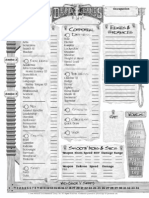 Deadlands character sheet