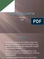 Sosiolinguistik Bahasa Melayu 2