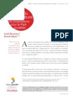 Les outils du combat culturel. Dix propositions pour le Parti socialiste