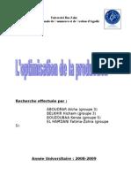 groupe n°04 - l'optimisation de la production