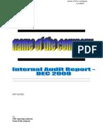 Sample Auditl Report