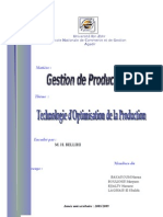 groupe n°13 - technologie d'optimisation de la production