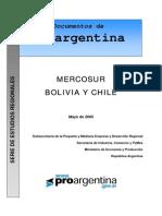 Estudios Regionales - Mercosur, Bolivia y Chile