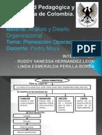 DIAPOSITIVAS FINALES  PLANEACIÓN OPERACIONAL