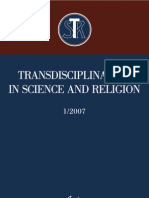 Transdisciplinarity in Science and Religion, No 1, 2007