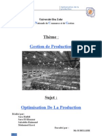 groupe n°26 - l'optimisation de la productionn