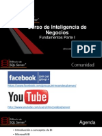 """Curso de BI por """"El Rincón de Sql Server"""""""