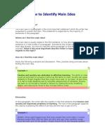 How to Identify Main Idea