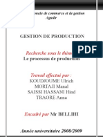 groupe n°40 - le processus de production