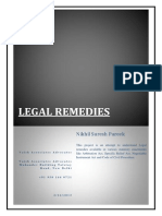Legal Remedy avalable under Code of Civil Procedure, Arbitration Act, Specific Relief Act, Negotiable Instrument Act